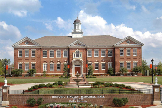 Tingley Memorial Hall (front facade, ca. 2007), Claflin University