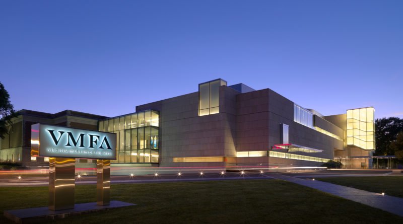 Architectural view of the James W. and Frances G. McGlothlin Wing - Twilight northeast, September 2013