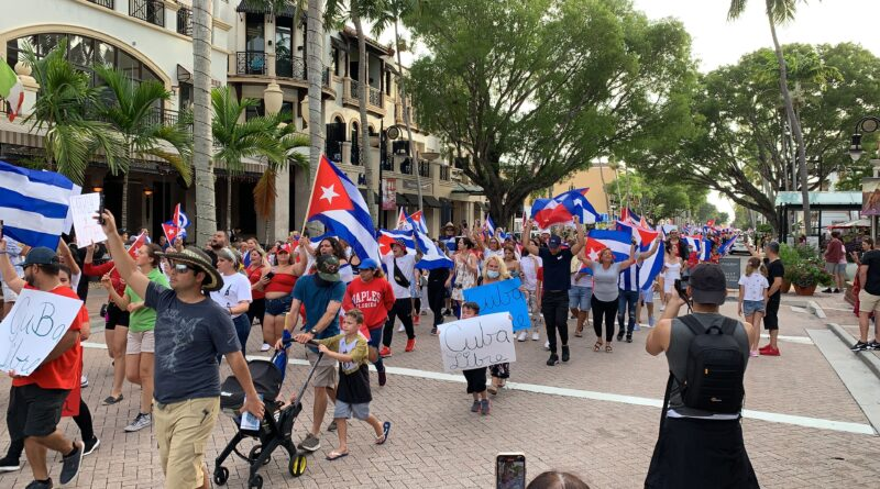 Protests in Cuba on the Embargo